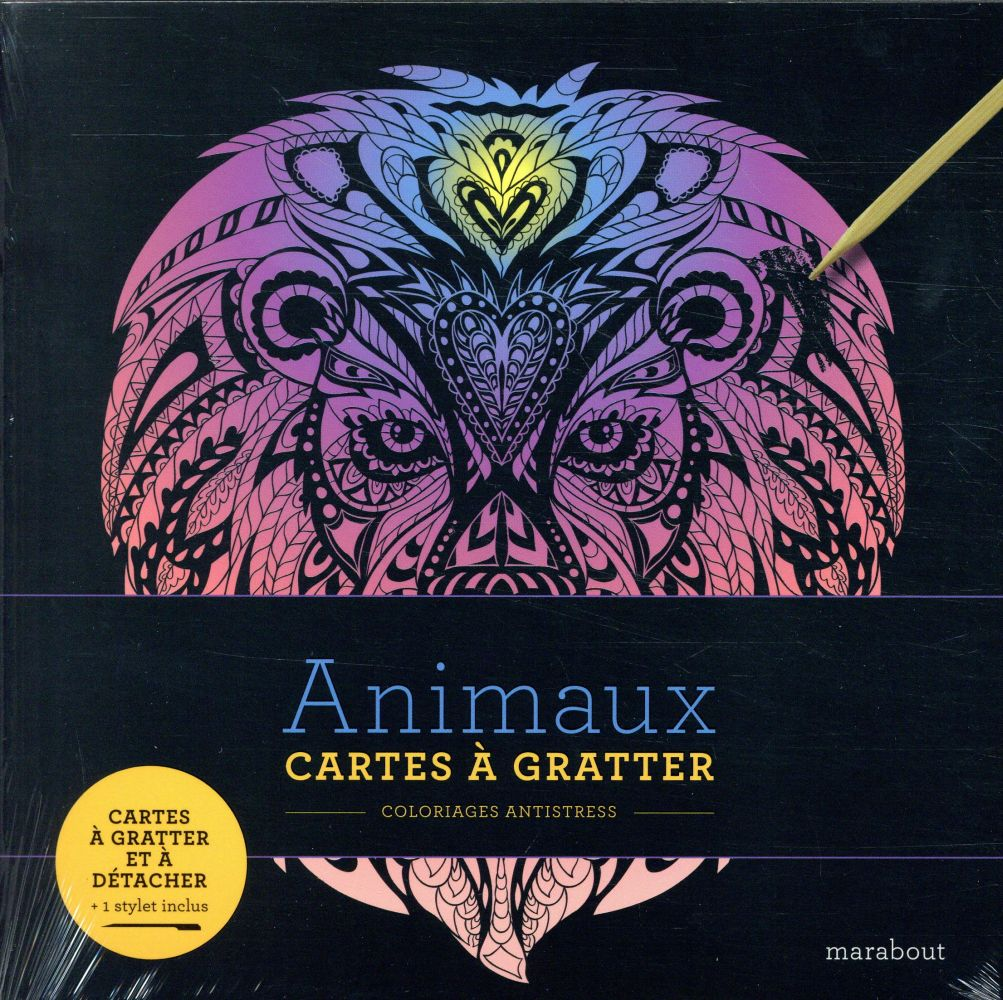 LIVRE A GRATTER - ANIMAUX